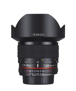Rokinon 14mm f/2.8 IF ED UMC Ultra Wide Angle Fixed Lens Built-in AE Chip for Nikon